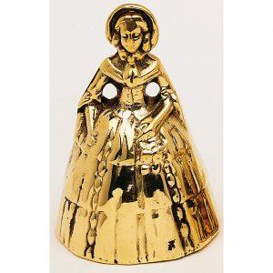 Crinoline lady brass hand bell